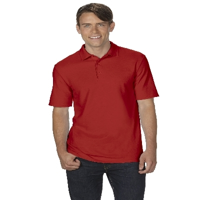 72800 DryBlend Adult Dbl Pique Polo - Red  (728002RE_PREAP)