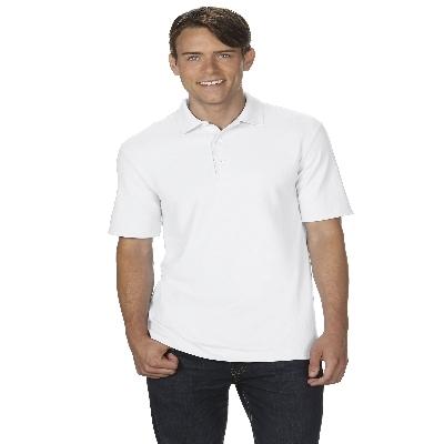 72800 DryBlend Adult Dbl Pique Polo - White  (728002W_PREAP)
