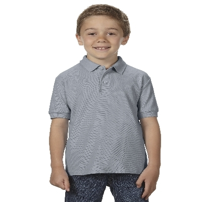 72800B DryBlend Youth Dbl Pique Polo - Charcoal  (72800B2CH_PREAP)