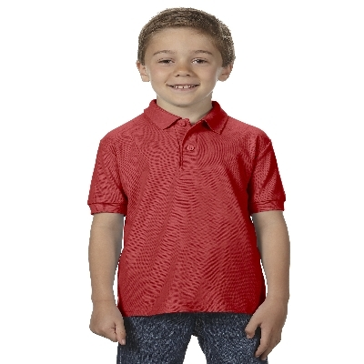 72800B DryBlend Youth Dbl Pique Polo - Red  (72800B2RE_PREAP)