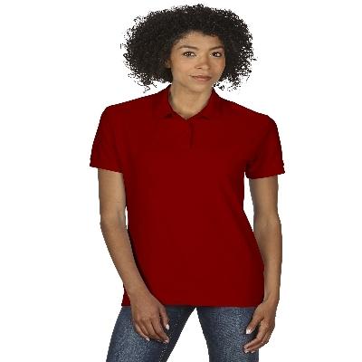 72800L DryBlend Ladies Dbl Pique Polo - Red  (72800L2RE_PREAP)