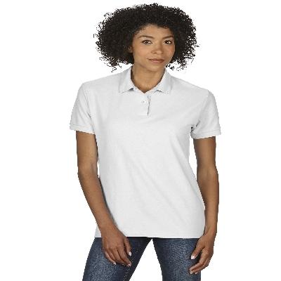 72800L DryBlend Ladies Dbl Pique Polo - White  (72800L2W_PREAP)