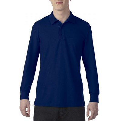 72900 DryBlend Adult LS Polo - Navy  (729002NY_PREAP)