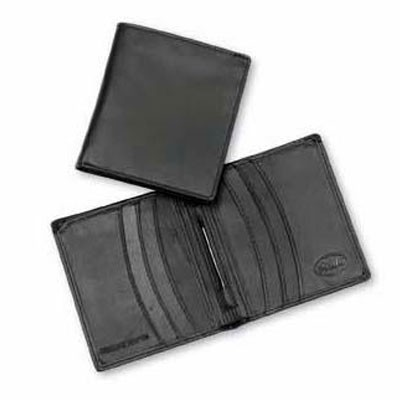 Leather Wallet With Money Clip (411_CCNZ)