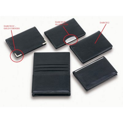Classic Card Holder With Gold Corners (DABCH12C_CCNZ)