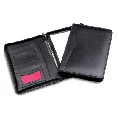 A5 Zip Leather Compendium (WC317_CCNZ)