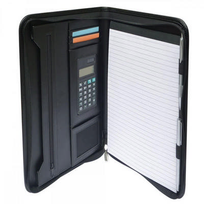 Windsor A4 Zip Compendium with Calculator