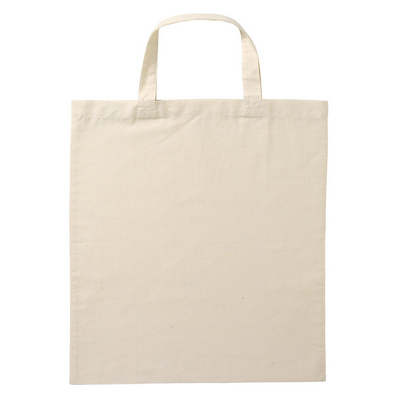 Calico Bag Short Handle - Natural