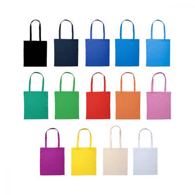 Calico Bag Long Handle - Colours