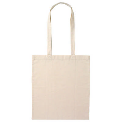 Calico Bag Long Handle - Natural (B109n_PS)