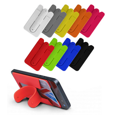 Silicon Wallet With Pop Stand (PS9002_PS)