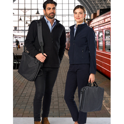 Leyton Utility Heather Laptop Bag (B5005_WIN)