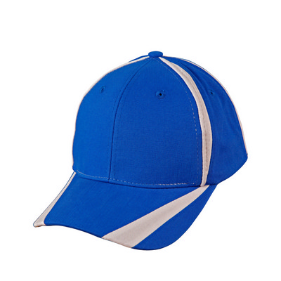 Brushed Cotton Twill Baseball Cap With X Contrast Stripe (CH81_WIN)