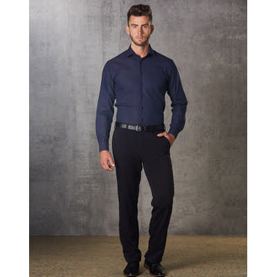 Mens PolyViscose Stretch Pants Flexi Waist (M9330_WIN)