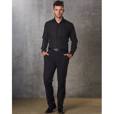 Mens Polyviscose Flexi Waist Stretch Pants (M9340_WIN)