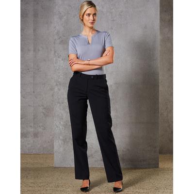 Ladies Wool Blend Stretch Slim Leg Flexi Waist Pants (M9400_WIN)
