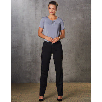 Women PolyViscose Stretch Low Rise Pants (M9420_WIN)