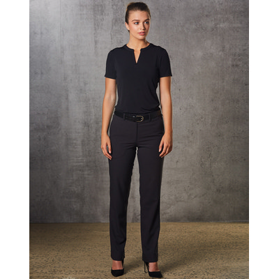 Ladies PolyViscose Stretch Flexi Waist Utility Pants (M9440_WIN)