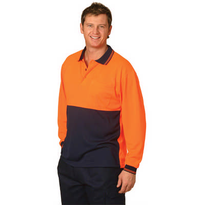 High Visibility Long Sleeve Polo (SW05CD_WIN)