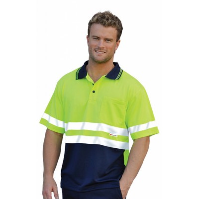 High Visibility Short Sleeve Safety Polo 3M Reflective Tapes (SW17_WIN)