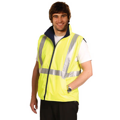 Hi-Vis Reversible Safety Vest With 3M Tapes (SW19A_WIN)