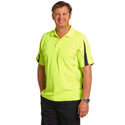 Hi-Vis Legend Short Sleeve Polo Mens (SW25A_WIN)