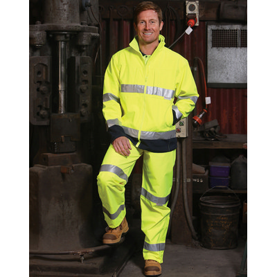 High Visibility Two Tone Softshell Jacket with 3M Reflective Tapes (SW29_WIN)
