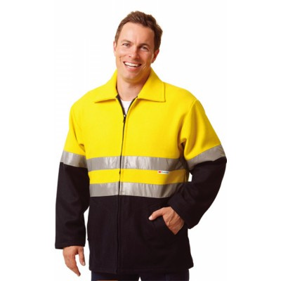 High Visibility Two Tone Safety Bluey Jacket  (SW31_WIN)