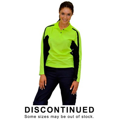 Ladies Truedry Long Sleeve Safety Polo (SW34_WIN)