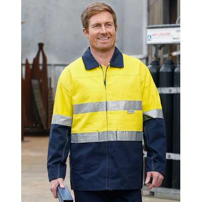 High Visibility Cotton Jacket With 3M Reflective Tapes (SW46_WIN)