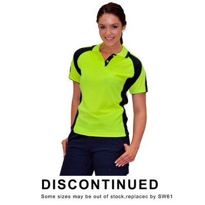 Ladies Hi-Vis Cooldry Contrast Polo With Sleeve Panels (SW62_WIN)