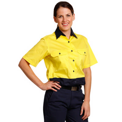 Women Short Sleeve Safety Shirt (SW63_WIN)