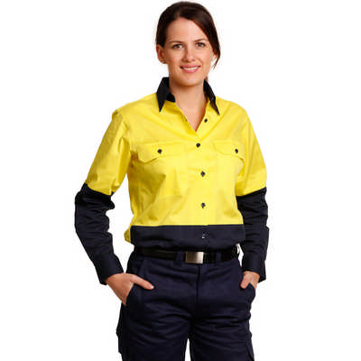 Women Long Sleeve Safety Shirt (SW64_WIN)