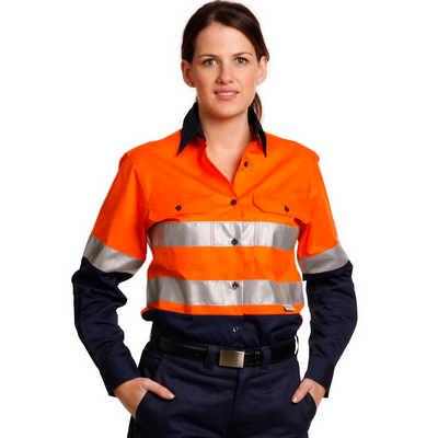 Women Long Sleeve Safety Shirt (SW65_WIN)