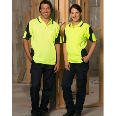 Unisex CoolDry Hi-Vis Mini Waffle Safety Polo (SW71_WIN)