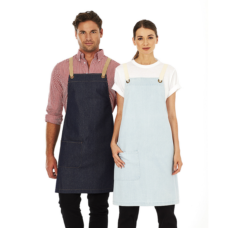 Original Denim Bib Apron with contrast straps