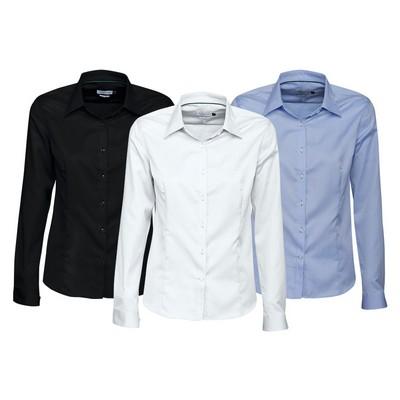 Green Bow 01 Ladies - Business Shirts (GreenBowLadies_HARV)