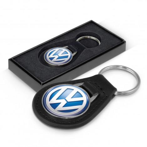 Baron Leather Key Ring - Round (108385_TNZ)