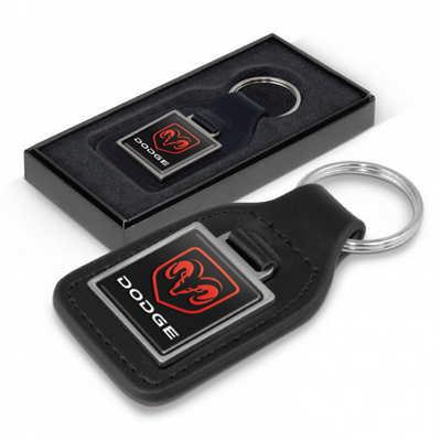 Baron Leather Key Ring - Square (108597_TNZ)