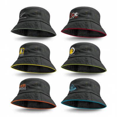 Bondi Premium Bucket Hat - Coloured Sandwich Trim