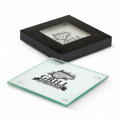 Venice Glass Coaster Set of 4 - Square (116395_TNZ)