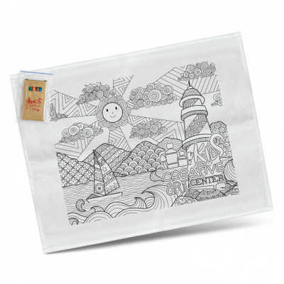Cotton Colouring Tea Towel (116594_TNZ)