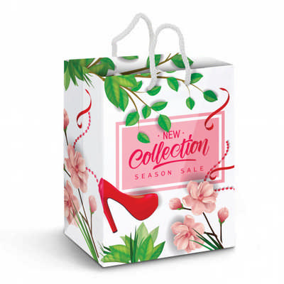 Large Laminated Paper Carry Bag - Full Colour (116941_TNZ)