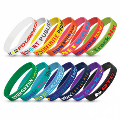 Silicone Wrist Band - Indent (104485_TRDZ)