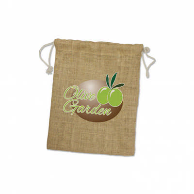 Jute Gift Bag - Medium - (printed with 1 colour(s)) 109069_TRDZ