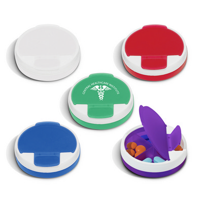 Round Pill Case - (printed with 1 colour(s)) 109630_TRDZ