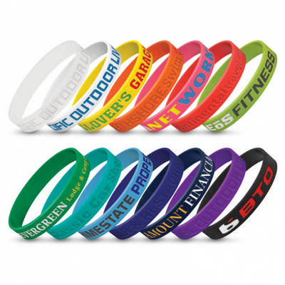 Silicone Wrist Band - Debossed (112805_TRDZ)