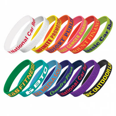 Silicone Wrist Band - Embossed (112806_TRDZ)