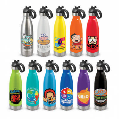 Mirage Steel Bottle - Flip Lid - Includes Decoration 113808_TRDZ