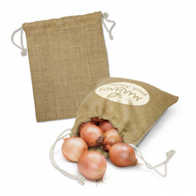 Jute Produce Bag - Medium - (printed with 1 colour(s)) 115070_TRDZ